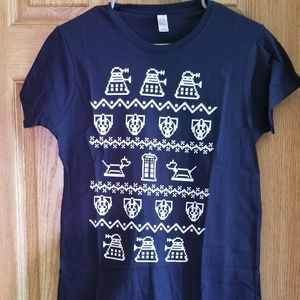 Tops - Doctor Who Ugly Xmas Sweater Style Tshirt
